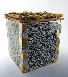 """Tea Caddy with Dragonflies"",stoneware, multiple firings,  Dinah Steveni $275"