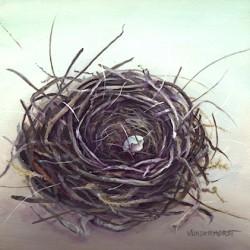 "Lori Vonderhorst ""Broken Home"" 6 x 6  $275"