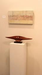 Beverly Shaw-Starkovich painting & Randal Leek sculpture