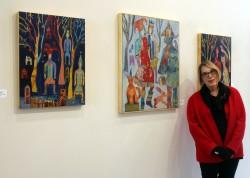 Judith Heim with her art.