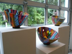 kiln cast glass bowls by Doug Randall