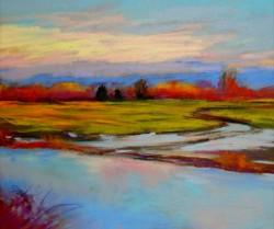 """Samish Flats, Twilight"" by Barbara Zielke"