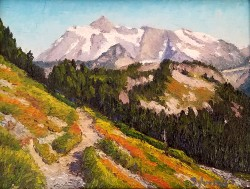 Mt. Shuksan, 6 x 8 oil painting by Rod Sylvester