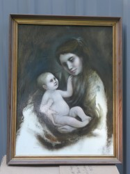 """Woman and Child"", oil by Betty Frost"