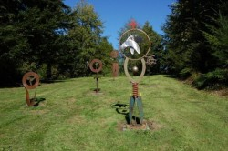 A series of Lance Carleton sculptures in the Matzke Park