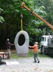 """Installation of """"December"""" at Matzke Sculpture Park"""