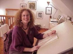 Susan in her Camano Island Studio
