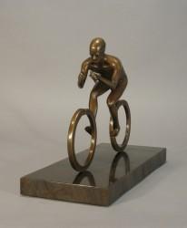 Cyclist, bronze and granite
