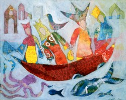 A Ship of Wise Women, 16 x 20 by Judith Heim $575
