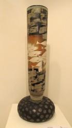"""""""Fish on the Stone"""",31"""" x 12"""", blown glass Hirorshi Yamano"""