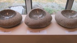 Auction favorite - Reg Akright's carved granite bowls