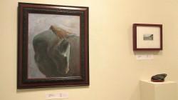 "(R) Irena Jablonski ""Corleone"" oil on canvas  26 x 22 $1500."
