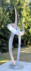 Wild Embrace, 8' tall stainless steel by Bienvenu